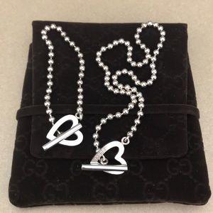 Gucci Heart Necklace & Bracelet